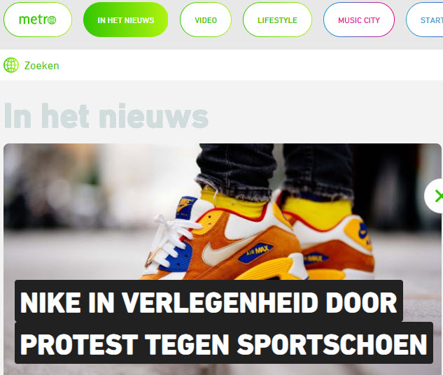 Metro interview Corinne Keijzer over Nike